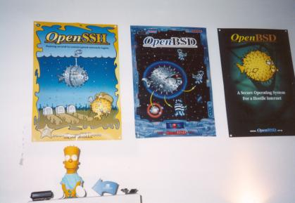 My three OpenBSD posters - click for larger image
